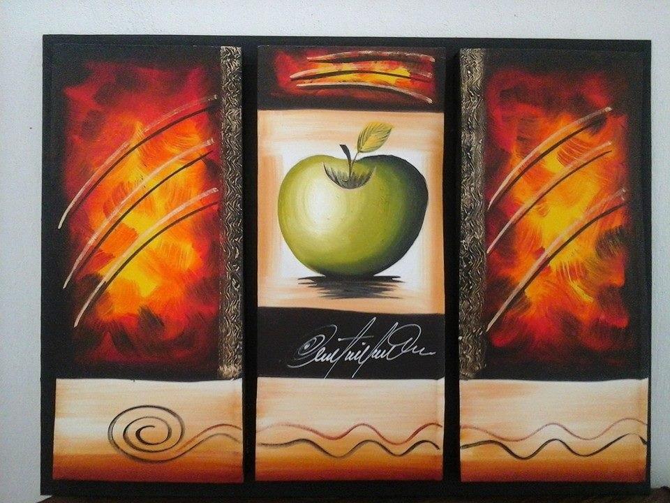 Cuadros tripticos modernos y elegantes al oleo minimalitas en mercado libre - Triptico cuadros modernos ...