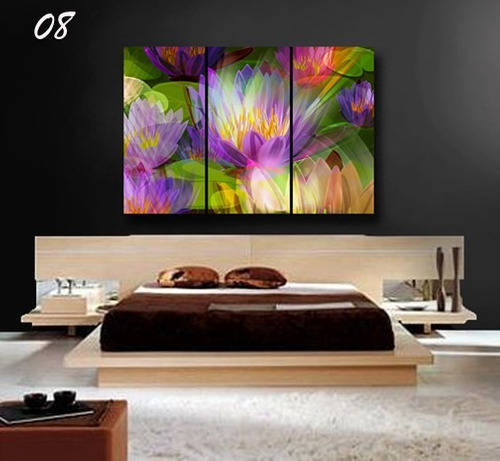 cuadros tripticos, modernos,90 x 60 lienzo canvas exclusivo