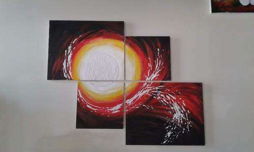 cuadros tripticos pintados al òleo sobre bastidor de madera