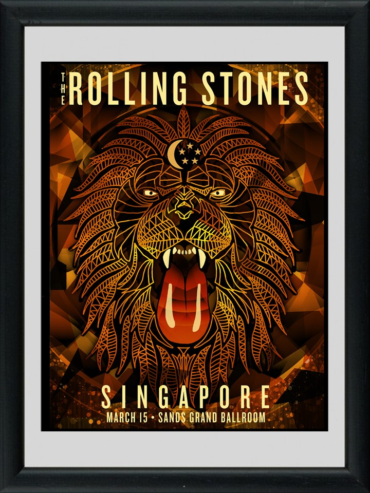 Cuadros Viejos Afiches The Rolling Stones! Marco Madera+vidr - $ 549 ...