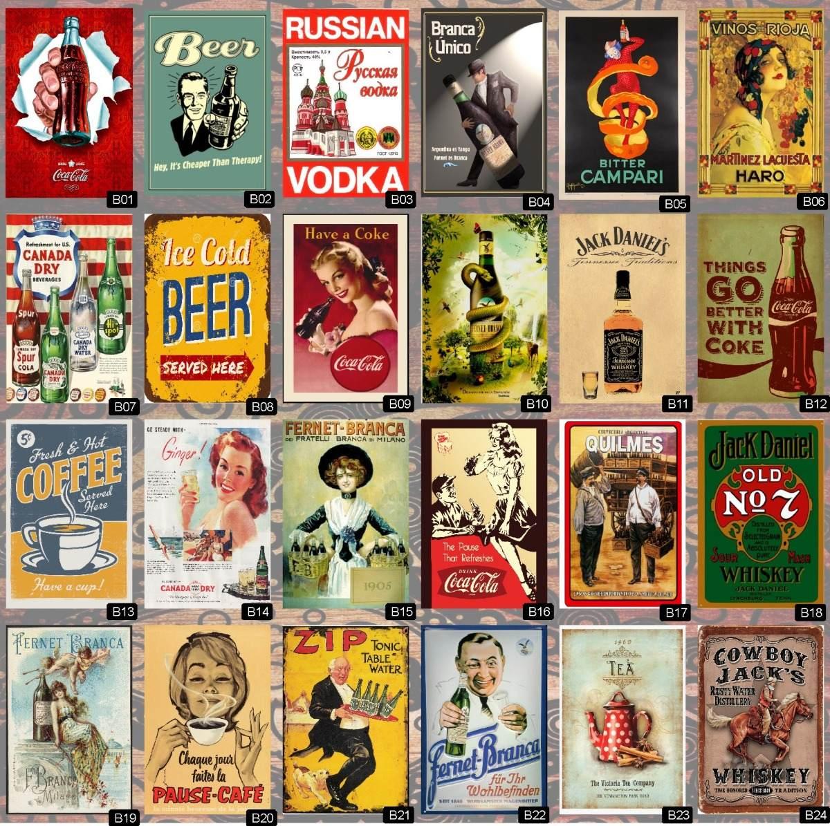 Cuadros Vintage Retro Impresos,40x50 Ofertaa - $ 180,00 en Mercado Libre