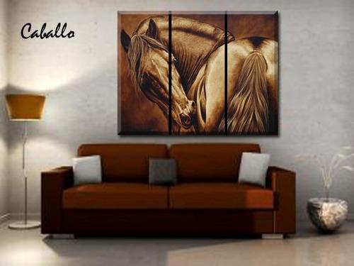 cuadro,triptico,sobre lienzo canvas,no plastico 120 x 80 cm