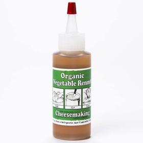 Cuajo Líquido Orgánico De Vegetales, 2 Onzas