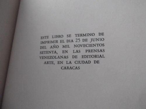 cuando quiera llorar no lloro miguel otero silva 1a ed. 1970