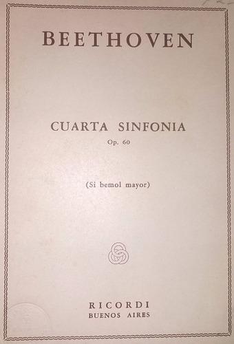 cuarta sinfonía, partitura orquestal completa, de beethoven