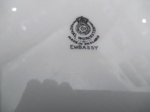 cuarteto de porcelana inglesa royal worcester embassy
