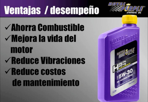 cuarto aceite royal purple hps motor 10w40 20w50
