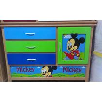 Cama Cuna 1 1/2 Para Niño Mickey Nuevo