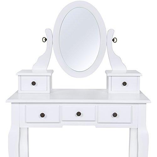 Famoso Tocador Blanco Set De Joyería Armario Muebles Cajón Banco De ...