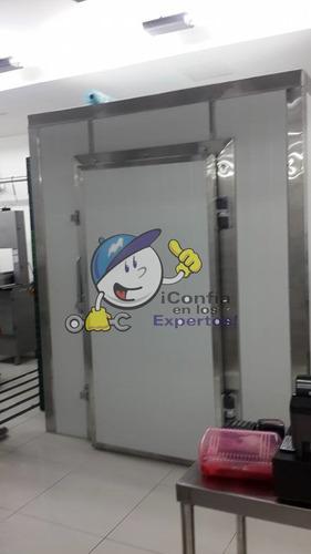 cuarto frío de mantenimiento y congelado