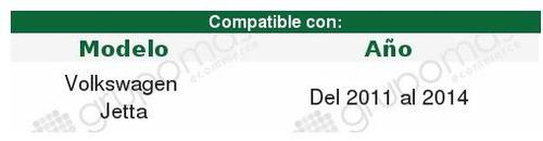 cuarto reflejante depo volkswagen jetta 2011 2012 2013 2014