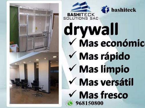 cuartos drywall sistema instalacion divisiones electrcisista