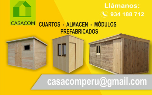 cuartos habitaciones prefabricadas de madera para azotea