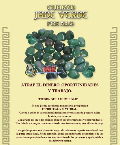 cuarzo jade verde por kilo - importado de brasil