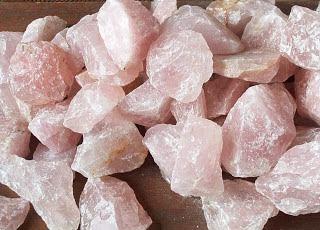 cuarzo rosa en bruto un kilo