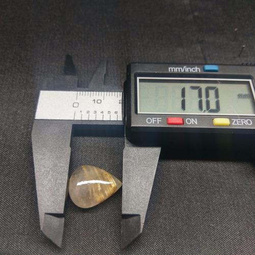 cuarzo rutilado corte lagrima de 2.3 gr