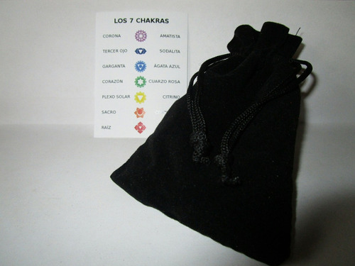 cuarzos, piedras de los 7 chakras (chacras) - con hematita