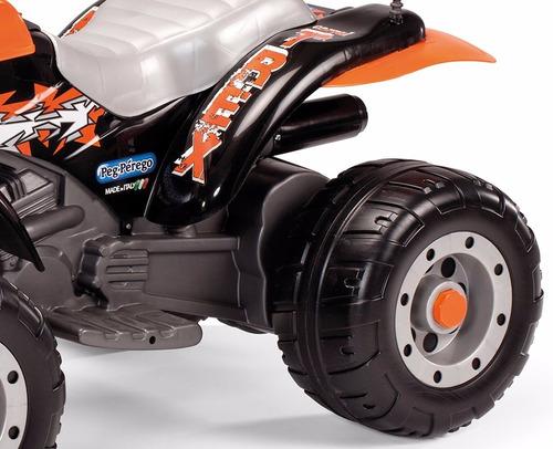cuatri moto a bateria peg perego corral trek rex black 12v