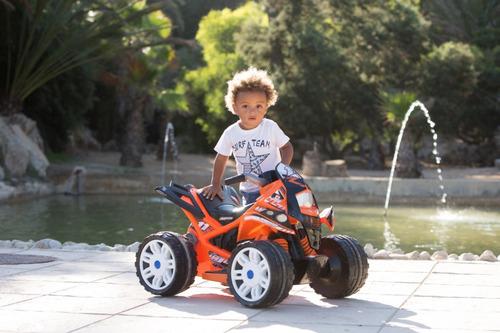 cuatri moto quad beast colores injusa 6v freno eléctrico