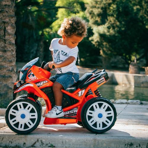 cuatri moto quad beast injusa 6v freno eléctrico parque