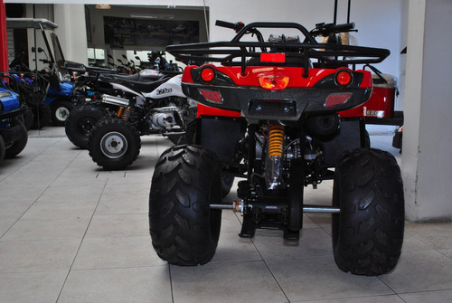 cuatriciclo 0km nuevo automático 125cc rojo landforce farm