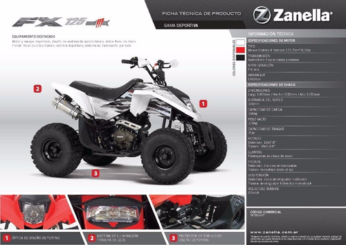 cuatriciclo 125 cc mad max zanella 0km