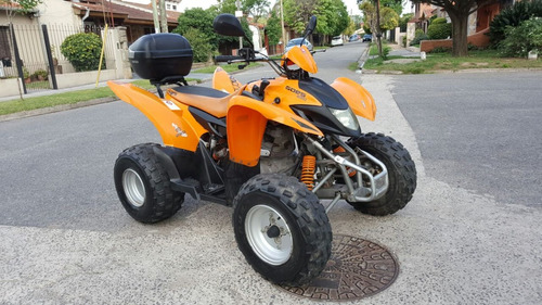 cuatriciclo 220 automatico patentado 2011 no/ raptor grizzly