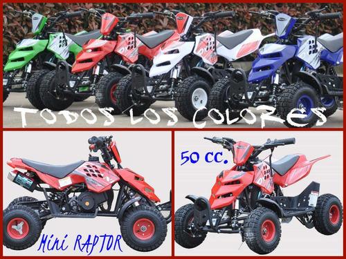 cuatriciclo 50 cc mini raptor 0 km  2018
