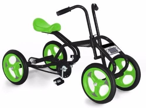 cuatriciclo a pedal jeico ruedas de goma macizas planeta