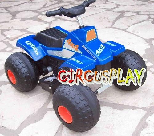 cuatriciclo arenero moto auto a bateria niños circusplay