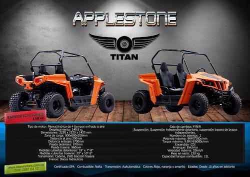 cuatriciclo atv titan utv applestone 150 cc