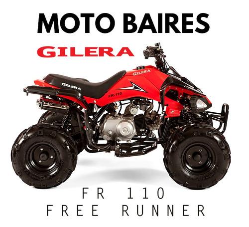 cuatriciclo gilera fr 110 automatico 0km free runner cuotas