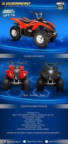 cuatriciclo guerrero gft motos