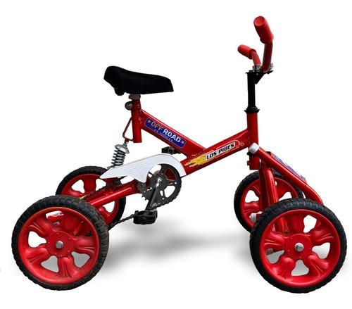 cuatriciclo infantil a pedal con suspension a cadena vxplay