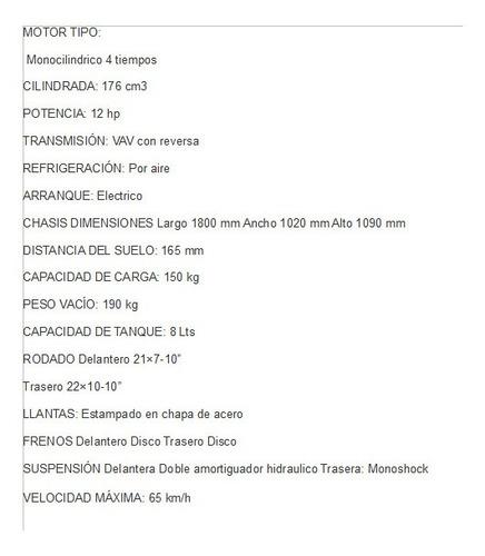 cuatriciclo  mapuche 200 guerrero