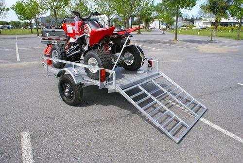 cuatriciclo, moto trailer