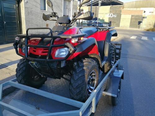 cuatriciclo parrillero 4x4 a/b demon quads 550 cc 400 kms.