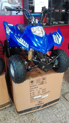 cuatriciclo tibo rally 70 modelo 2018 kids 0km - rvm