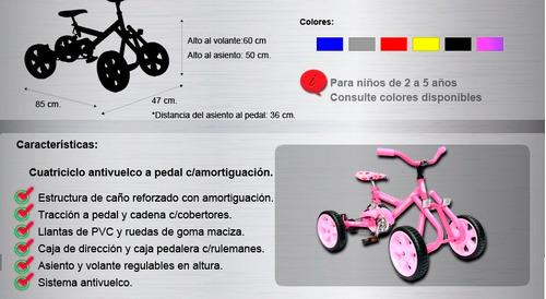 cuatriciclo triciclo karting pedal infanti kidsl envios