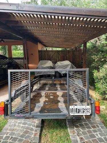 cuatriciclo zanella g-forcce 250 y trailer doble
