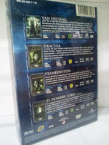 cuatrilogia mounstruos universal peliculas dvd