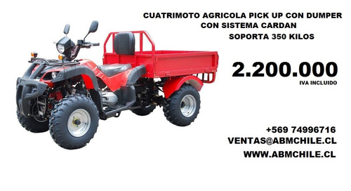 cuatrimoto agricola todo terreno con pick up 2.200.000