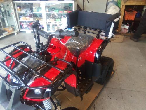 cuatrimoto juvenil marca avanzada q7 nuevo 125cc azul / rojo
