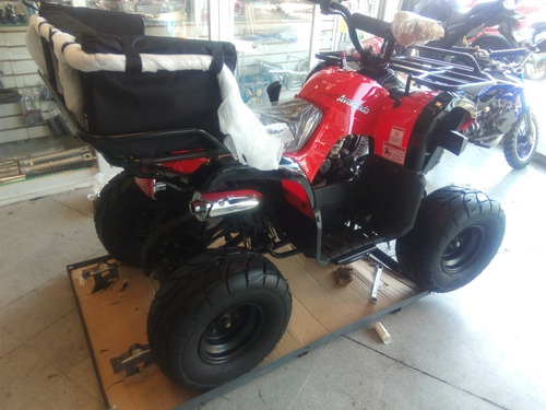cuatrimoto juvenil  q7 nuevo 125cc azul / rojo, con reversa
