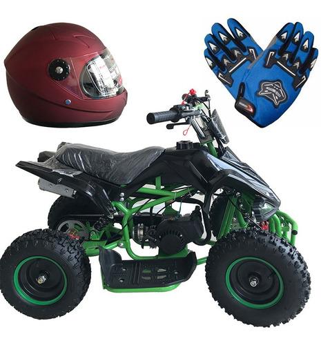 cuatrimoto raptor 49cc +casco +guantes