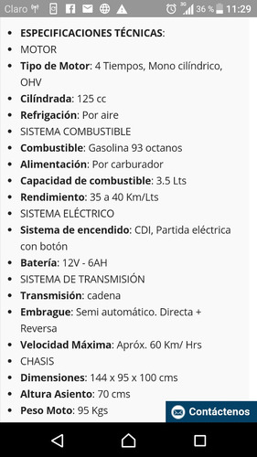 cuatrimotos 125cc encendido electrónico,  aro 8, automática