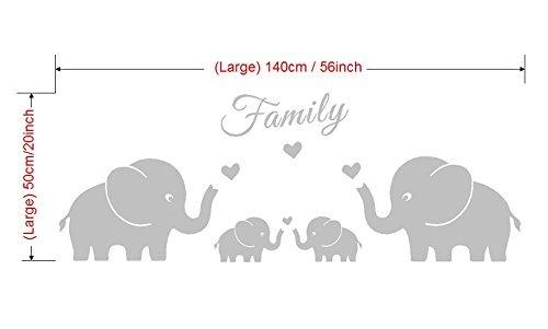 Cuatro Elefantes Familia Tatuajes De Pared Corazones De A