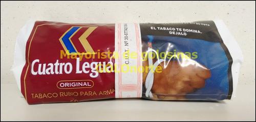 cuatro leguas tabaco rubio para armar 5 bolsas x 50gr oferta