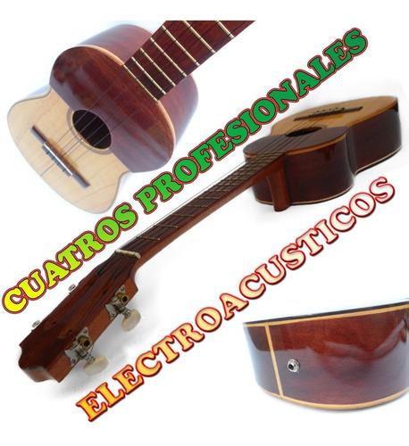 cuatro profesional de concierto 17 trastes electroacústico