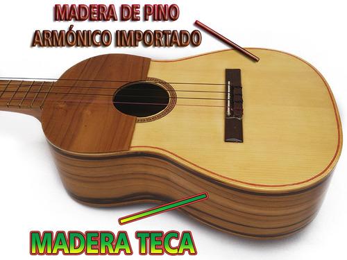 cuatro profesionales de concierto de 17 trastes madera teca